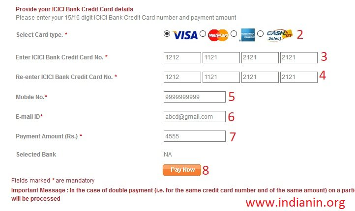 how to check credit card status in icici bank